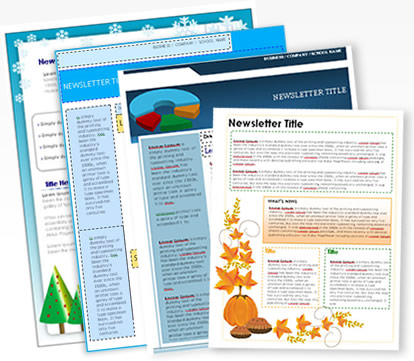 Free Printable Newsletters Newsletter Templates Email Newsletter - One page newsletter template publisher